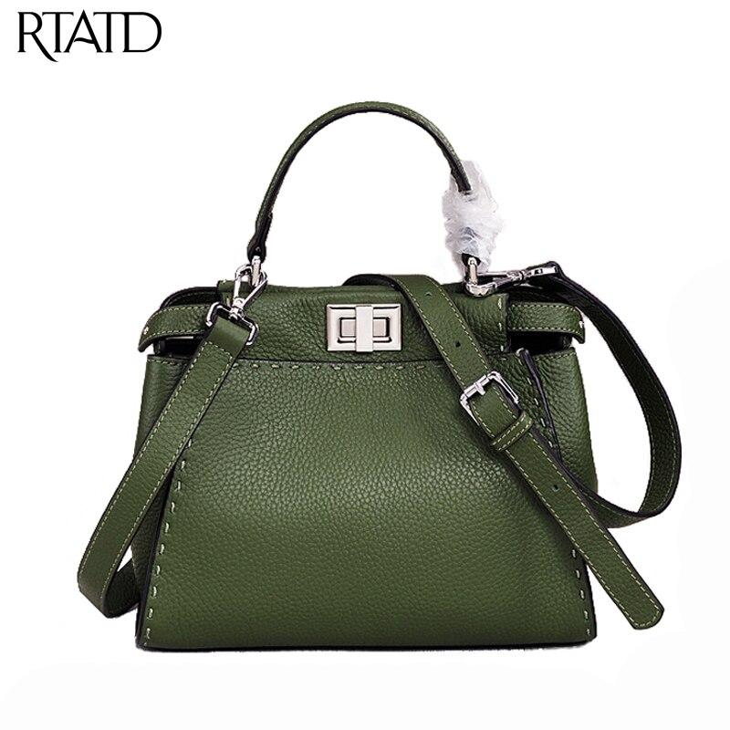 все цены на Classic Cowhide Tote Chic Women Genuine Leather Handbags Trendy Ladies Messenger Bags For Female Bolsa Q0146 онлайн