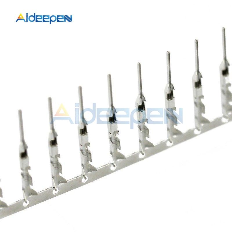 100 шт./лот 2,54 мм Dupont перемычка провода кабель женский/мужской контактный разъем терминал для DUPONT перемычка провода кабель