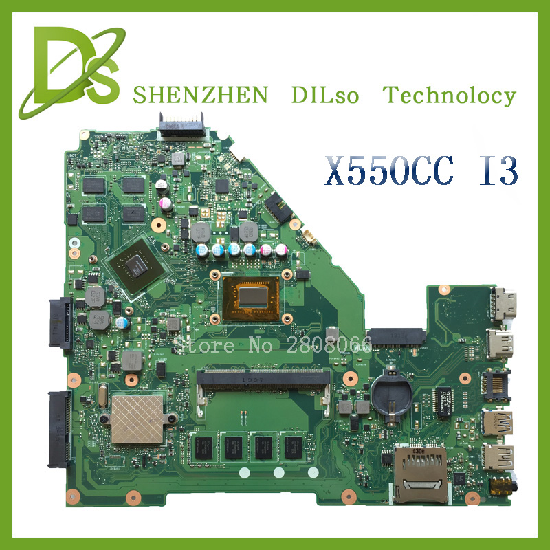 For ASUS X550CC X550CL Laptop motherboard X550CC mainboard REV2 0 with graphics card i3 cpu onboard