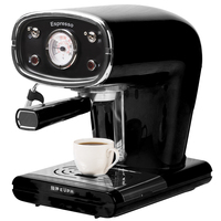 220V Semi Automatic Boiling Coffee Maker Espresso 15Bar Stainless Steel Steam Froth Milk Foam Coffee Machine