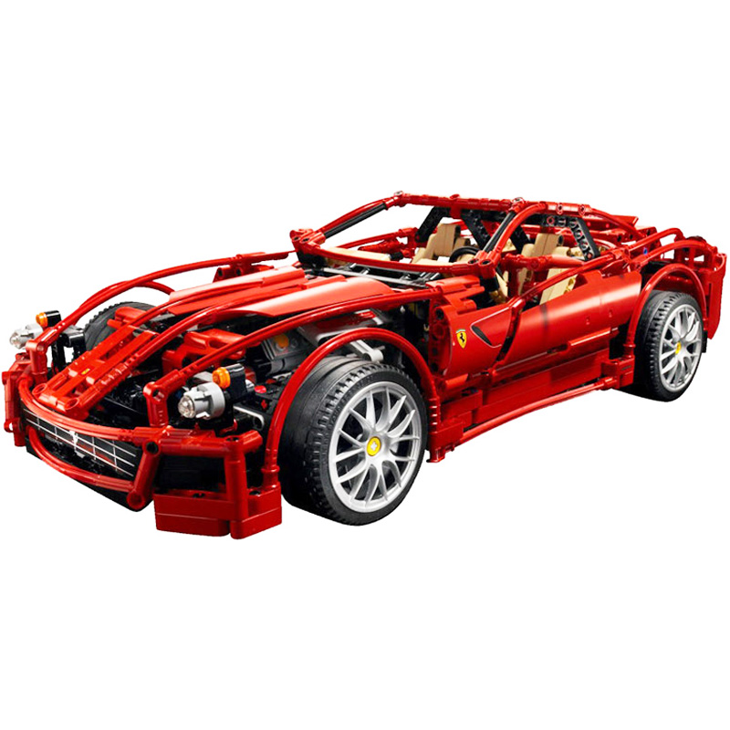 Decool 3333 1322pcs Technic Series Red Supercar Model Building Block set Bricks Toys For children Boy's Gift in stock dhl decool 3333 building blocks toy 1 10 car model supercar red assemblage racing brain game gift clone 8145