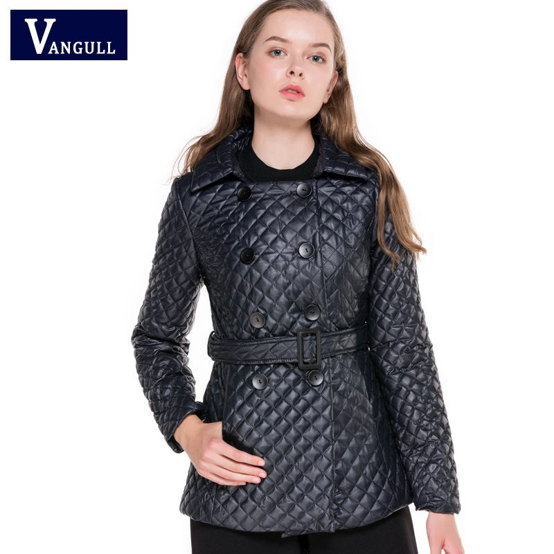 2017 New Hot Sell Winter Fashion Casual and loose Style Adjustable Waist short coat tide wild female outwear