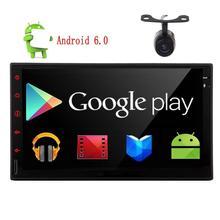 Android 6.0 HD Capacitive Screen Double 2 Din Car Radio Stereo 1080P Mirrorlink Auto GPS Navigation Head Unit Car Stereo+Camera
