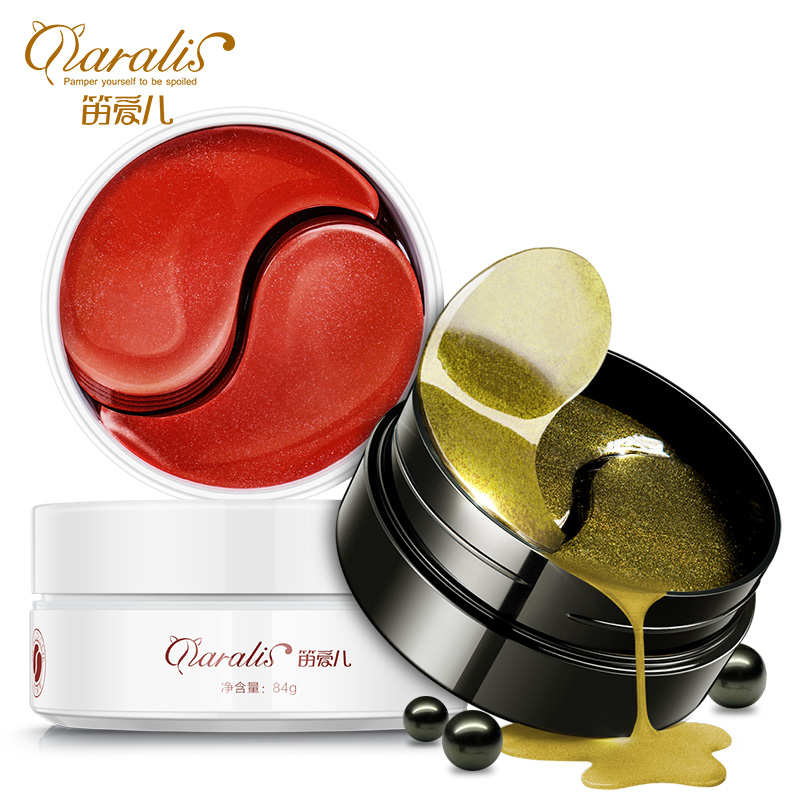 Daralis Black Pearl Golden Collagen Eye Mask & Red Ginseng Extract Eye Patches Dark Circle Anti-Puffiness Repair Mask for Women
