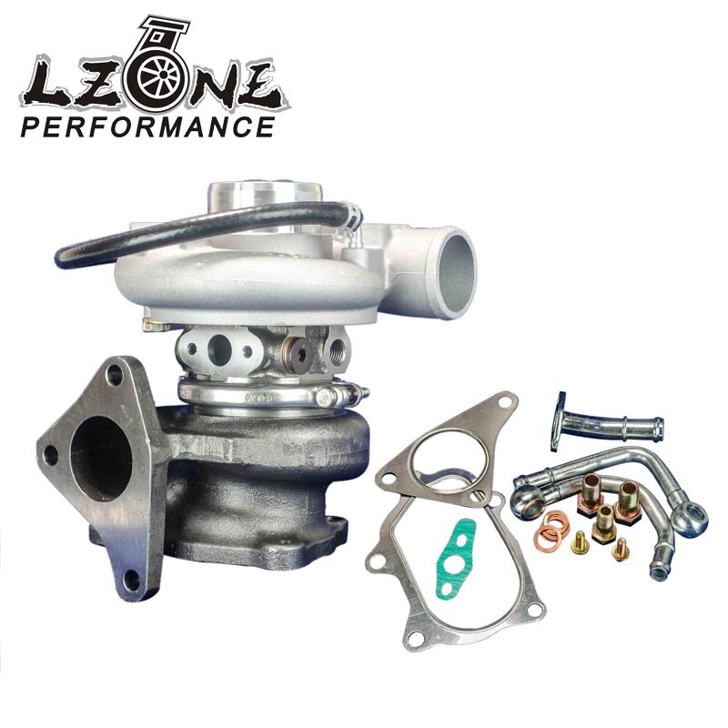 LZONE RACING - TD05-20g-8 TURBOCHARGER for Subaru WRX EJ20 EJ25 with actutor JR-TURBO037 lzone racing black aluminium fuel surge tank with cap foam inside fuel cell 40l without sensor jr tk21bk