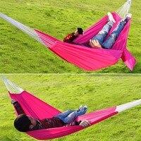 Nuevo recorrido que acampa hamaca al aire libre paracaídas cama portátil hamaca colgante Colchonetas de acampada libre