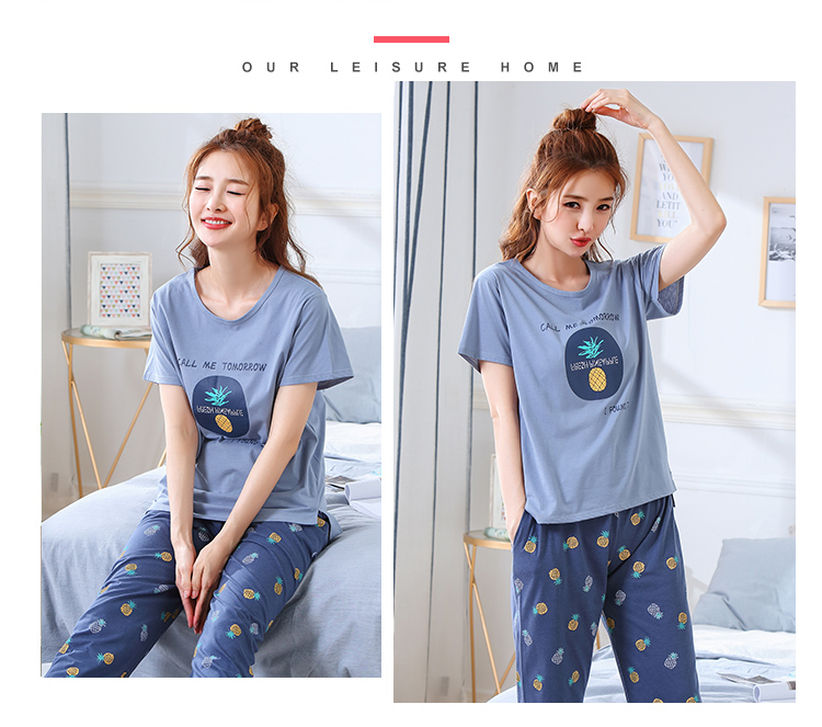 Image 3 - Summer Pajamas Cotton Home Pants Women Sleepwear Thin Pyjama Women Pants Female Casual Lady Home Wear Plus Size XXL 3XL 4XL 5XLPajama Sets   -