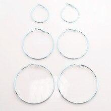 Okrągłe kolczyki w trzech rozmiarach
