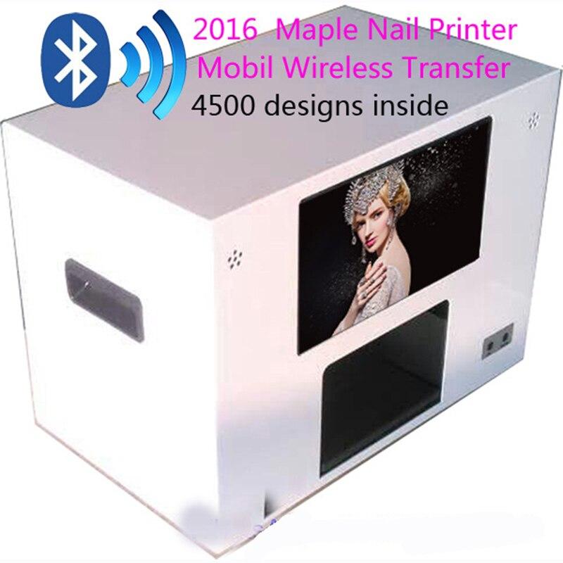 2016 Maple Nail Printer Machine Digital Flower Printer Mobile Wireless Transfer Nail Printer 4500 designs