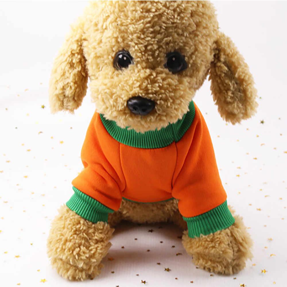 Хэллоуин Pet Puppy Толстовка Оранжевый Тыква толстовки Одежда для собак костюм одежда кошка пальто куртка одежда для щенков Лидер продаж