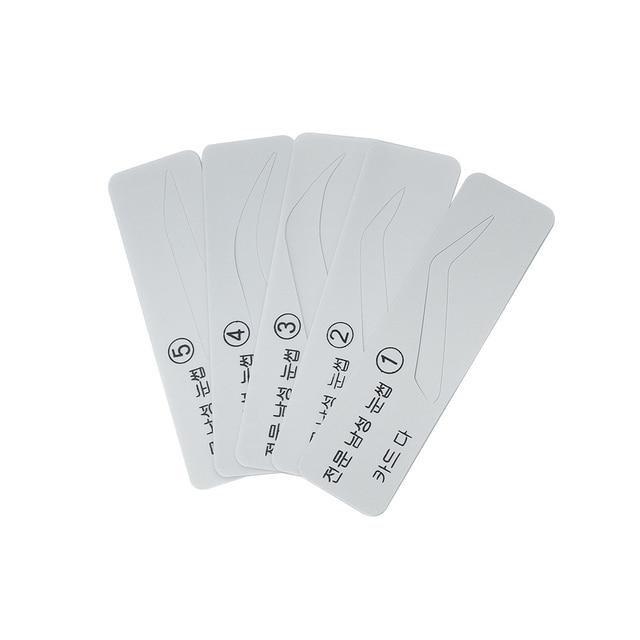 5 Types Pro Fashion Men Eyebrow Stencils Shaper Eye Brow Card Template Eye Brow Makeup Eye Grooming Tools Kit 2