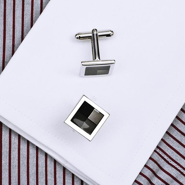 Kflk Luxury Shirt Cufflinks Men's Cuff Buttons Gray Links High Gemelos Abotoaduras Jewelry