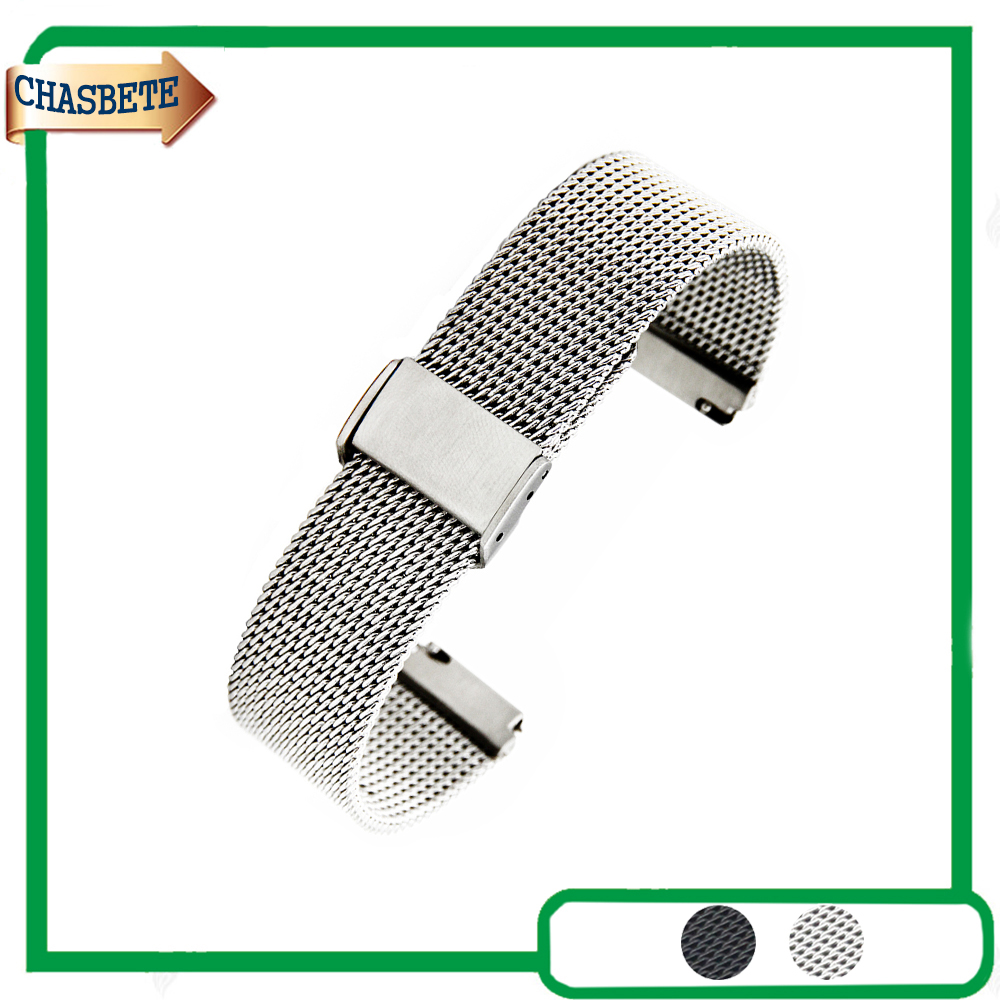 Stainless Steel Watch Band for AP Audemars Piguet 18mm 22mm Quick Release Metal Strap Belt Wrist Loop Bracelet Black Silver