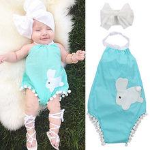 summer font b romper b font 2016 wholesale cute baby girl costume rabbit halter font b