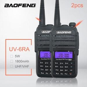 2 pcs baofeng UV-6RA 5 w 1800 mah 워키 토키 rádio uhf vhf 양방향 라디오 방송국 햄 cb 라디오 раtransmitter transmitter 송신기 모바일 woki toki