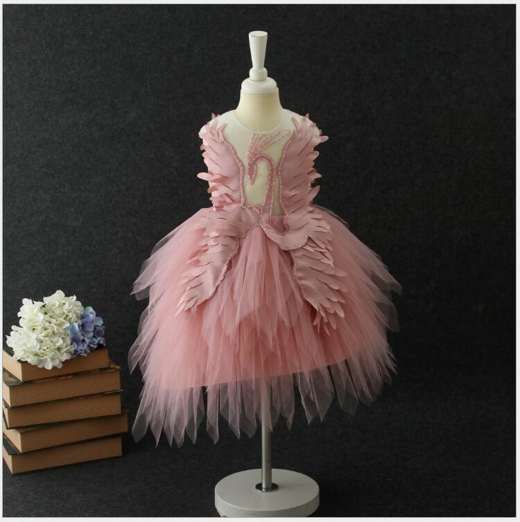 Girls carnival dresses for party costume for a girl swan dress with Angel wings for prom design teenage clothes for girlsGirls carnival dresses for party costume for a girl swan dress with Angel wings for prom design teenage clothes for girls
