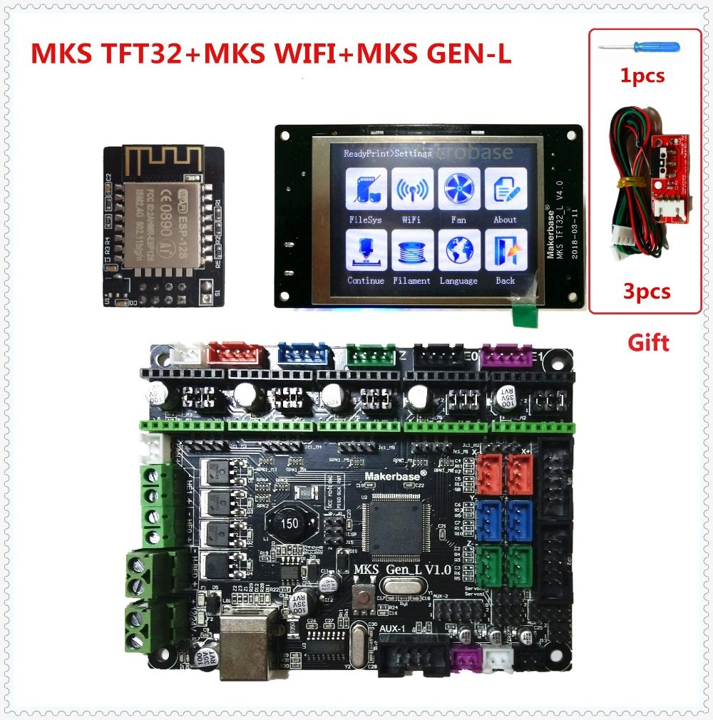 MKS GEN L V1 0 +MKS TFT32 V4 0 LCD touching display +3D BLtouch cheap 3D  electronic card kit openbuilds for 3d printer starter