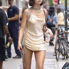 Dresses Backless Wear Drawstring