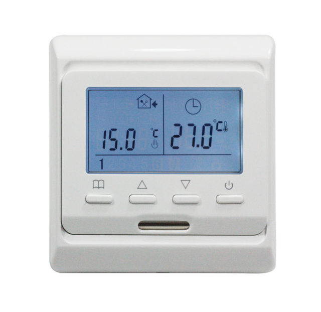 AC220V 16A floor heating thermostat Large LCD, Weekly Programming Thermostat with Prob termperature sensor