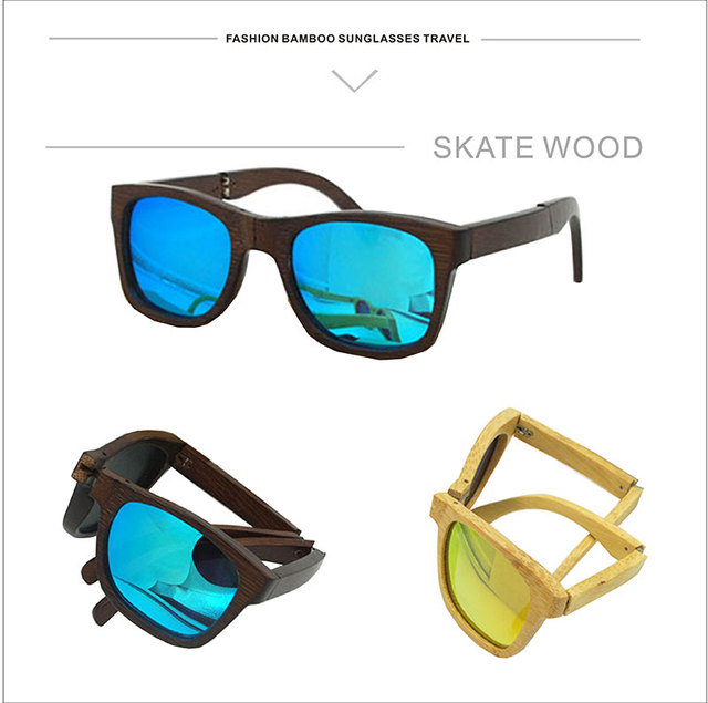 41ce40d8f5 Custom Hot bamboo wood folding glasses glasses wholesale fashion sunglasses  polarized lenses are