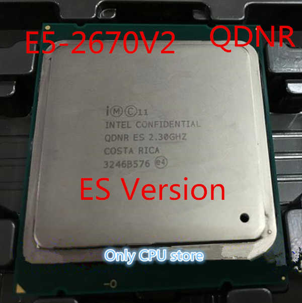 Original Intel Xeon E5-2670V2 QDNR ES Version 2.30GHz 10-cores 25M LGA2011 E5 2670V2 Processor free shipping