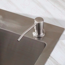Kitchen Sink Soap Dispenser Brushed Nickel Buy dish soap dispenser and get free shipping on aliexpress 2017 new wholesale modern sus brushed nickel countertop liquid dish hand pump replacement kitchen sink soap workwithnaturefo