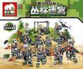 Dientes de lobo fuerzas Especiales de La Selva militar moderna laberinto mini bloques de construcción de Juguetes de Regalo Compatible con Lpin sences