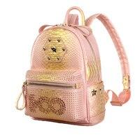 Starbags 2018 Новое поступление высокое качество для женщин кожа путешествия заклепки рюкзак школьный рюкзаки для подростков обувь девоч