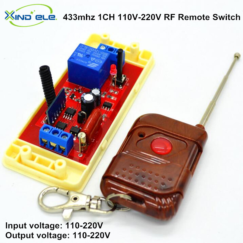 1CH Universal Wireless Remote Control Light Switch 10A Relay Output Radio AC 110V 220V Receiver Module + 433mhz RF Transmitter 220v 1ch radio wireless remote control switch 8 receiver