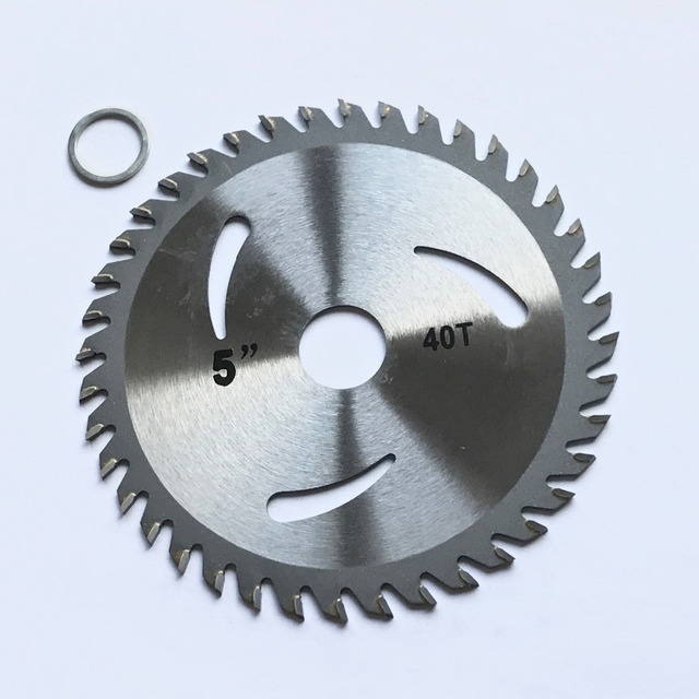 Free shipping 1PC decoration grade125*22/20*30/40Z TCT saw blade for wood/MDF/plastic cutting for home DIY decoration purpose