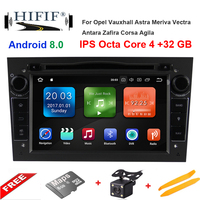 IPS 4GB+32GB Steering Wheel 2 Din Android 8.0 For Opel Vectra Corsa D Astra H Car DVD Multimedia Player Built in Dangle Radio
