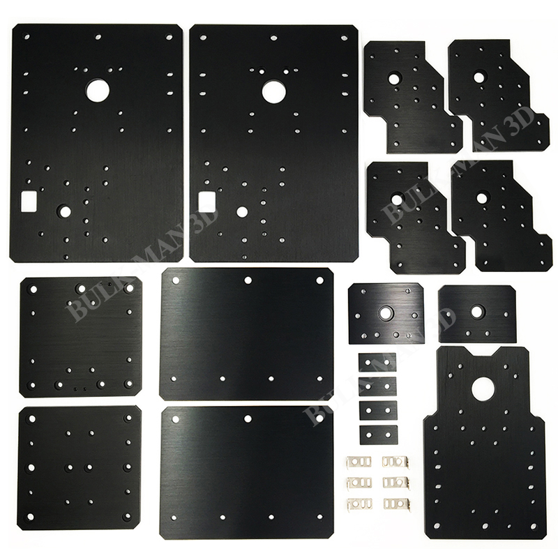 WorkBee CNC Aluminum Plates kit Lead Screw Driven and Belt Version for WorkBee CNC Router Machine