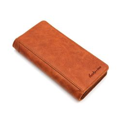 Marca de lujo de alta calidad 100% genuino aceite cera de piel de vaca de los hombres de cuero largo bifold cartera monedero Vintage Hombre Carteira