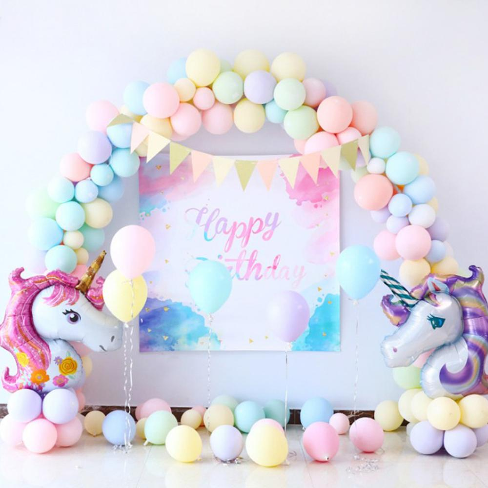 Image 5 - Macaron Figure Birthday Balloons Unicorn Party Decor Unicorn Foil Ballon Number Baloon 1st Birthday Party Decor Kids Baby Shower-in Ballons & Accessories from Home & Garden