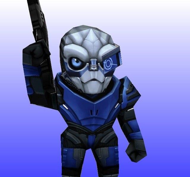 Mass Effect Game Turian Handmade Diy Paper Model Q Version 37 Cm