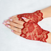 New Elegant Style Sun Protection Accessories Lace Hollow-Out Gloves