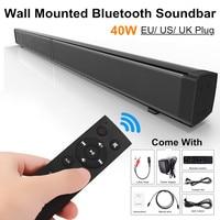 LP 09 Bluetooth Ec ho Soundbar Speaker 40W 3D HiFi Stereo Bass Speaker TF Card Aux Home TV Wall mounted Remote Control Soundbar