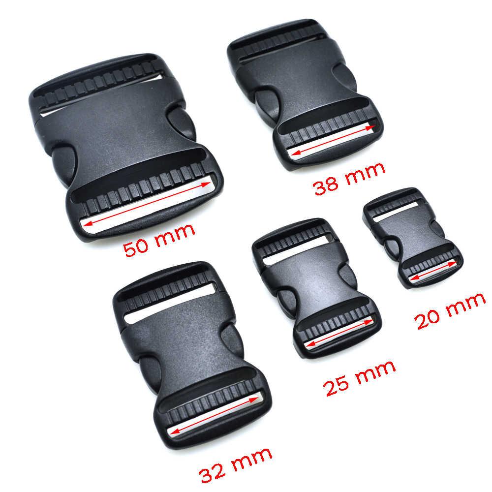 1 unids/pack hebilla de plástico hebilla de cinturón de Liberación lateral doble hebilla ajustable correas para perros accesorios del paquete negro