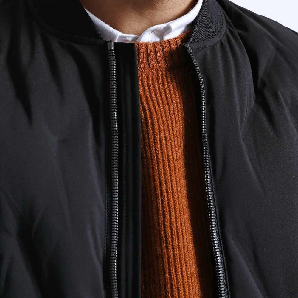 Chaqueta de marca SIMWOOD para hombre 2019 Otoño Invierno moda negro rompevientos para hombre Casual grueso caliente chaquetas de bombardero para hombre 180603