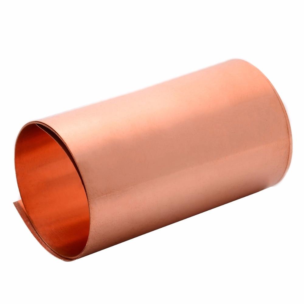 1pcs 99.9/% Pure Copper Cu Metal Sheet Foil 0.2 x 100 x 1000 mm