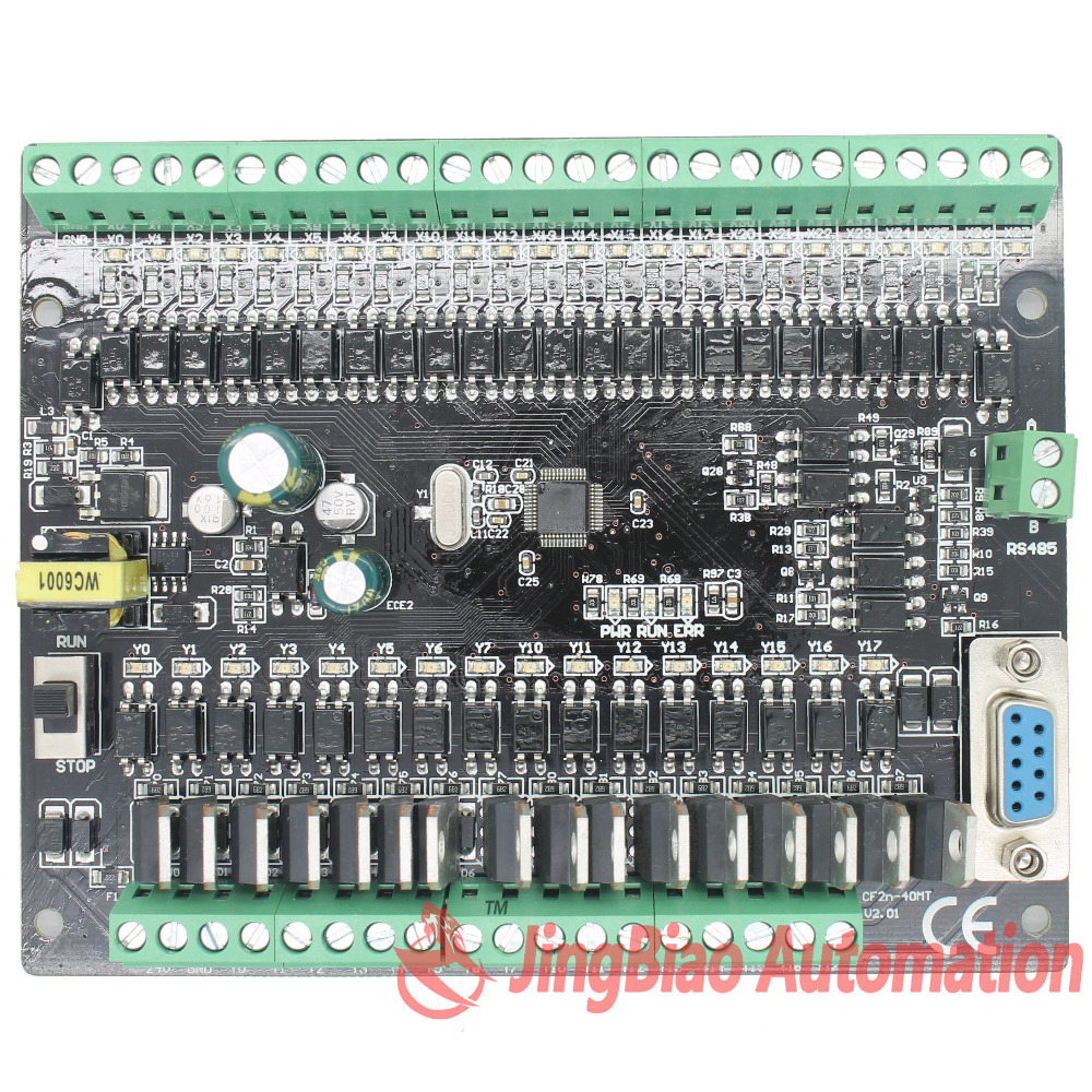 Fx2n Cf2n 40mt Rs485 Programmable Logic Controller 24 Input 16 Motor Control Circuit Plc Output Transistors Automation Controls System Free Shipping Worldwide
