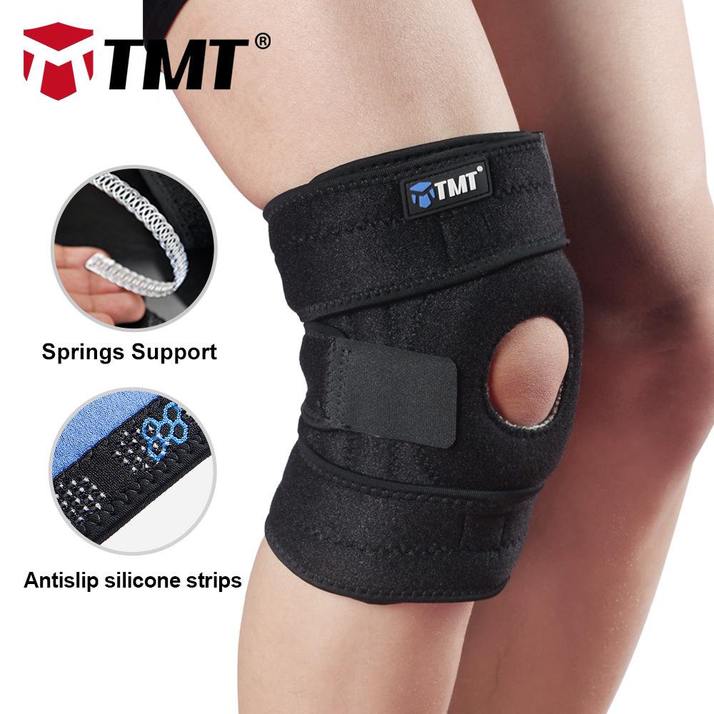 TMT Honeycomb Meshed Breathable EVA Protector Adjustable Elastic Basketball Cycling KneePads guard Brace Support sleeves pads