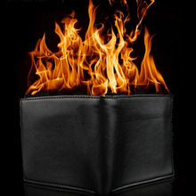 Горячие Игрушки Новинка Большой пламя Magic Trick Пламя Огня Бумажник Кожа Маг Этап Улица Непостижимо Показать