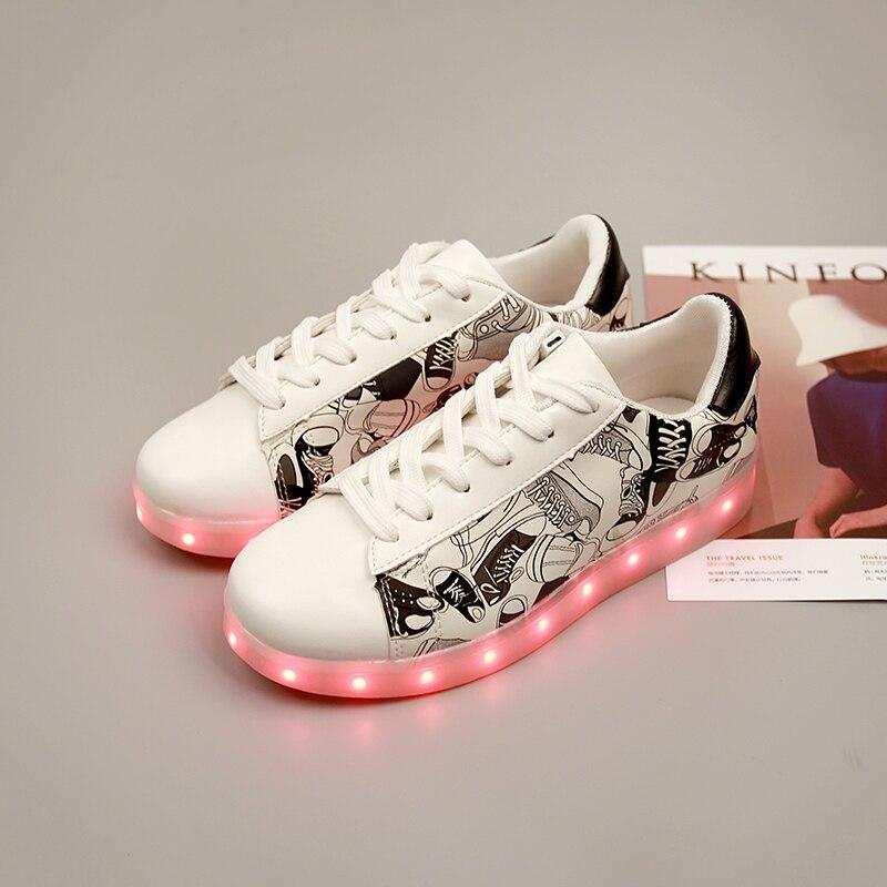 7 ipupas Mejor Brillo LED Luminoso Zapatos Unisex Led casual Zapatos para Hombre