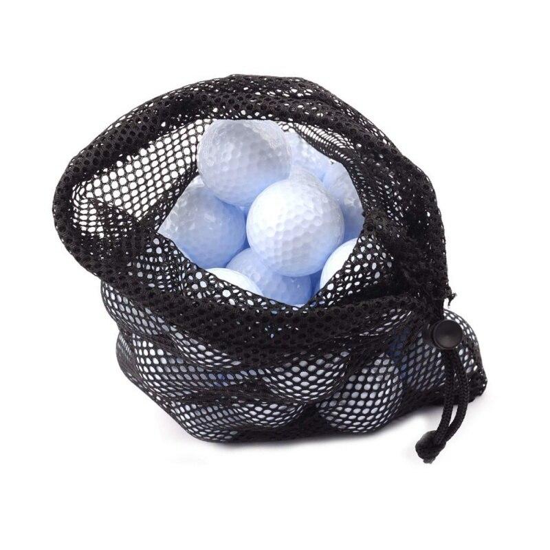 Sports Balls Storage Pouch Golf Nylon Mesh Nets Bag Tennis Hold Up To 45 Balls Holder Golf Closure Training Aid