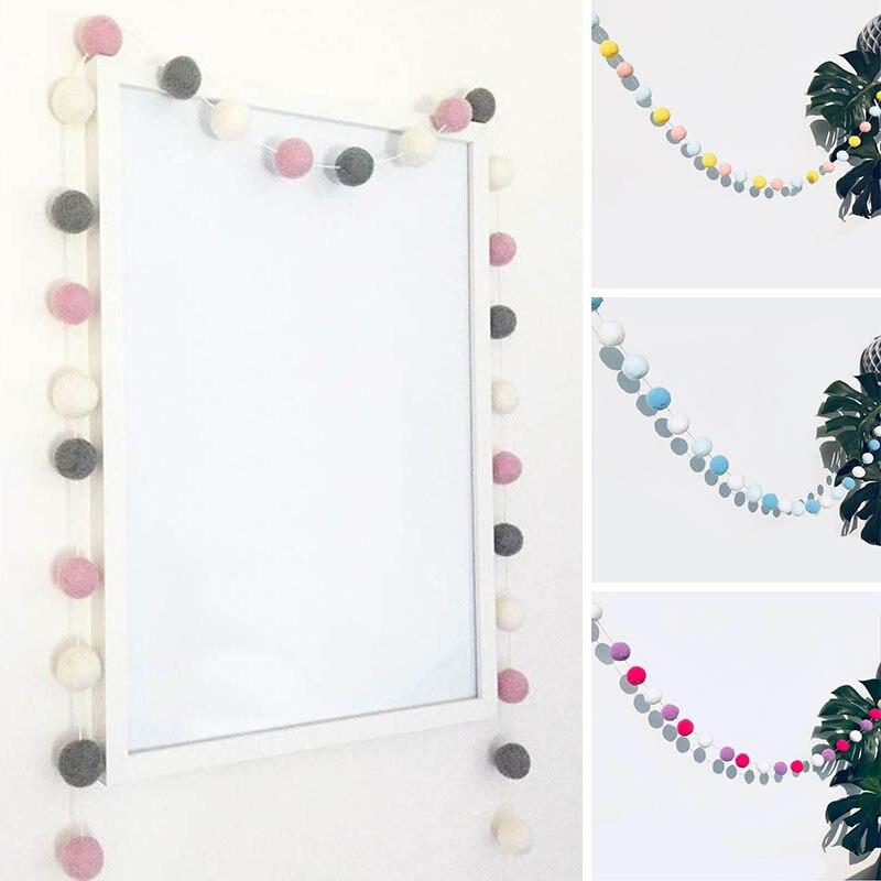 מכירה נורדי סגנון תינוק מקלחת ילדים חדר זר שיער כדור קישוט Macarons חתונה חדש פסטיבל אספקת מסיבת יום הולדת