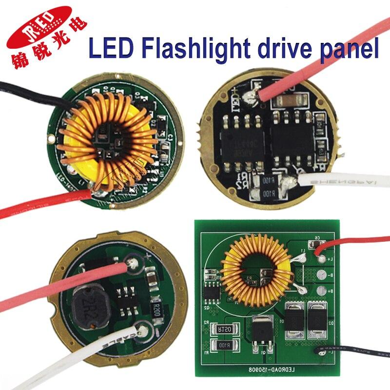 5PCS LED Driver Board Use For 3W 5W 10W 18W 30W CREE XHP50 XHP70 XPE XRE XML XPL XPG 2 Lamp Bead High-power 1.5v 5v 12v  Battery