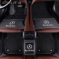Custom car floor mats pad for Mercedes Benz all models E C GLA GLE GL CLA ML GLK CLS S R A B CLK SLK G GLS GLC vito viano