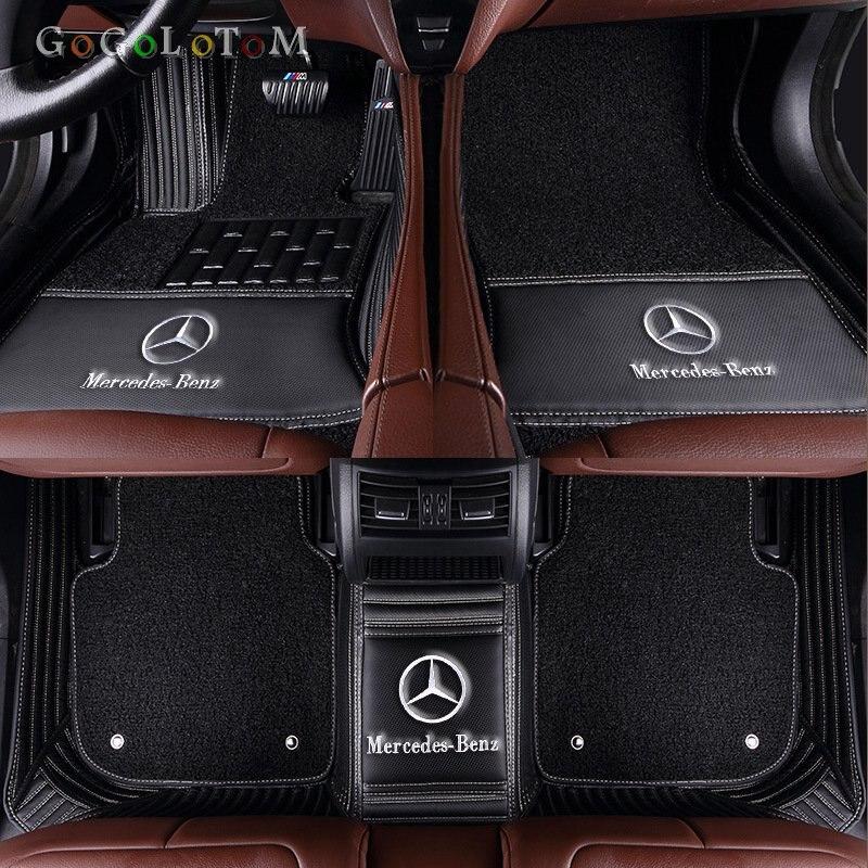 Tapis de sol de voiture sur mesure pour Mercedes Benz tous les modèles E C GLA GLE GL CLA ML GLK CLS S R A B CLK SLK G GLS GLC vito viano