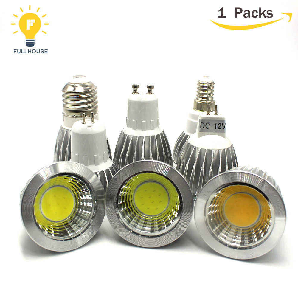 MR16 lamps COB Spotlight Dimmable 9w 12w 15w e14 bombillas led lampada gu10 led bulb e27 mr16 12v led lamp forTable lamps light